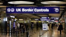 A picture of UK border controls at Heathrow