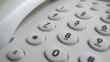 Image of a landline telephone keypad