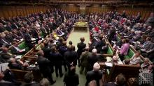 An image of a crowded House of Commons with lots of MPs