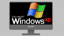 An illustration of a computer screen displaying a Windows XP logo
