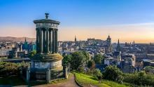 An image of the skyline of the city of Edinburgh, as seen from Calton Hill