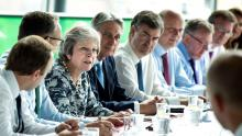 Theresa May cabinet meeting at Sage Gateshead, Tyne and Wear PA