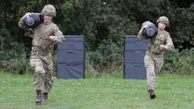An image of soldiers going through Army fitness training