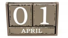 An illustration of a date displaying 1 April