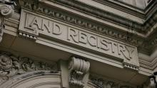 A close-up image of the doorway of HM Land Registry's former headquarters in central London