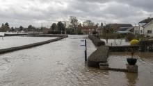 An image of flooding in Acaster Malbis near York
