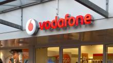 An image of the signage above Vodafone store