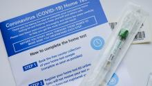 An image of the coronavirus home test kit