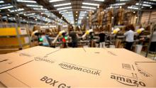 Amazon fulfillment centre in Peterborough, Cambridgeshire