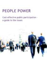 A picture of the frontcover of People Power: Cost-effective public participation - a guide to the issues