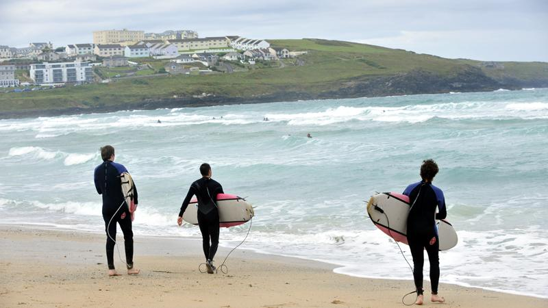 Cornwall surfers
