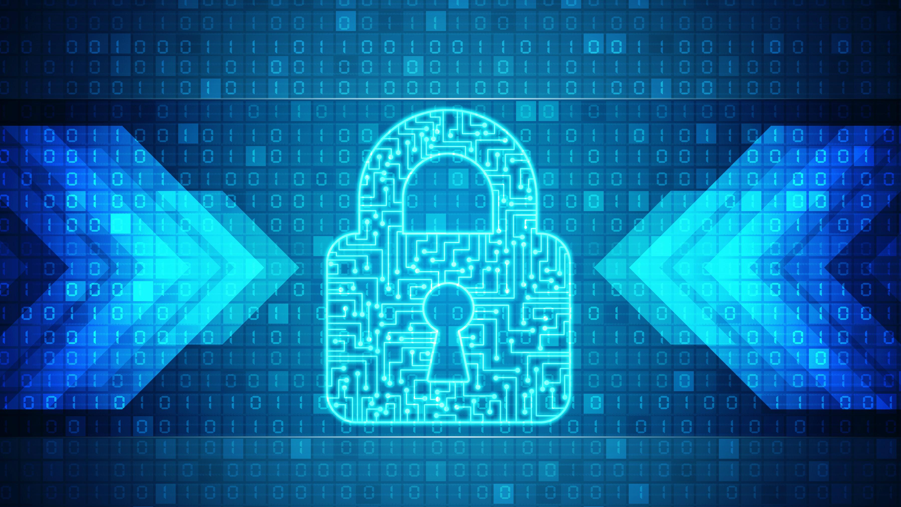 Gchq Information Security Arm Cesg Awards Six Firms Certified Cyber Data Software Image Of Digital Padlock
