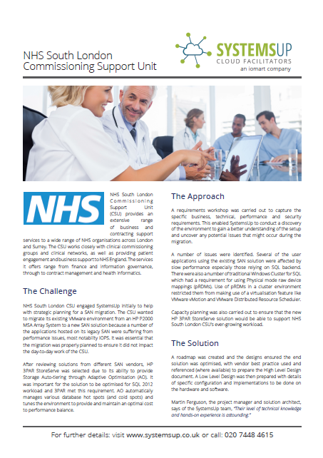 A picture of the NHS South London Commissioning Support Unit whitepaper