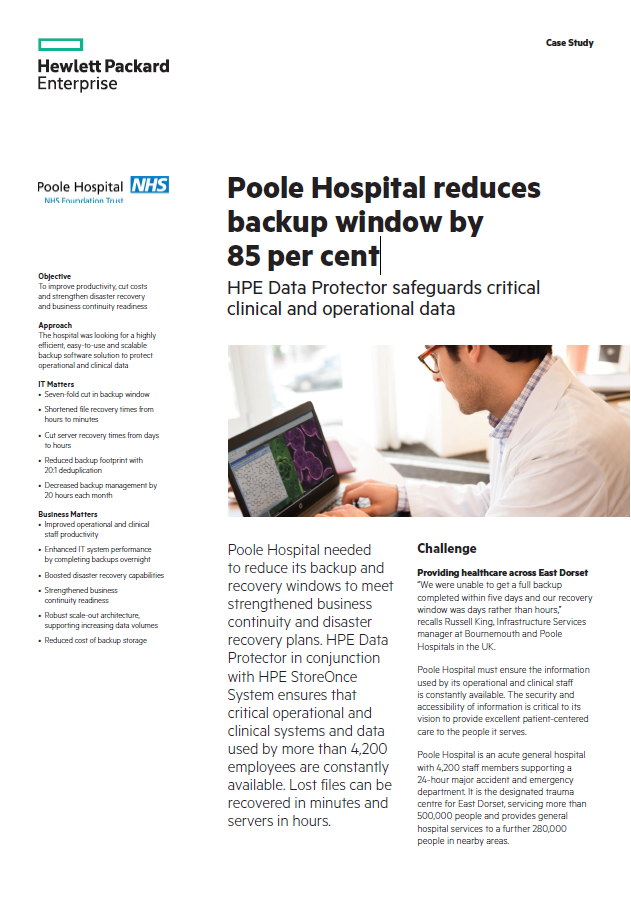 A picture of the Poole case study