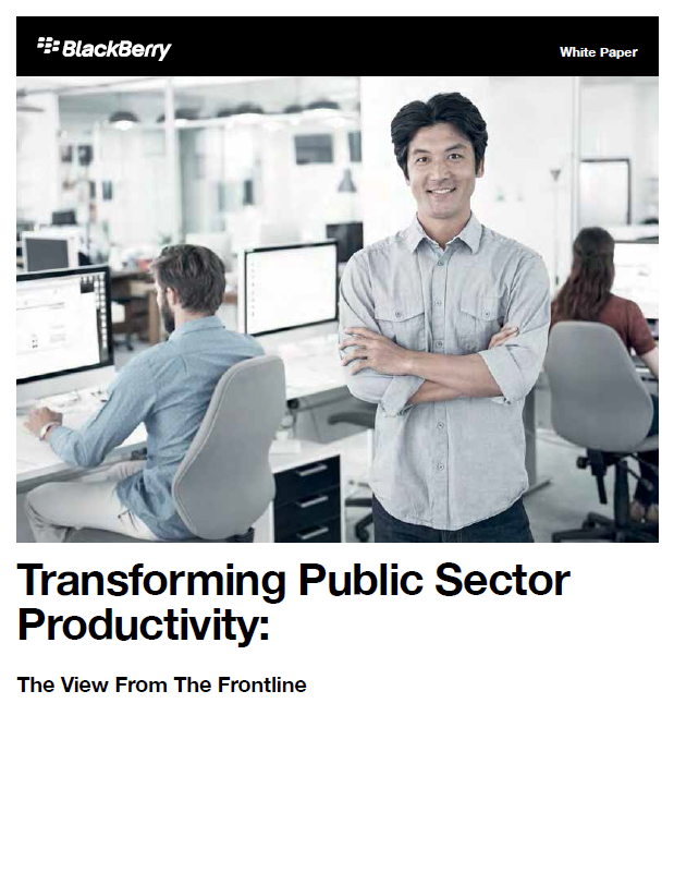 A picture of the Transforming Public Sector Productivity whitepaper
