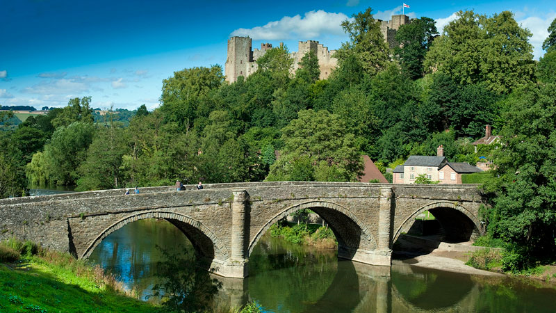 A picture of Dinham Bridge at Ludlow by Shropshire & Telford TSB
