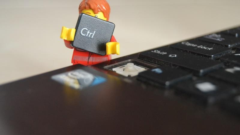 Lego man with ctrl button