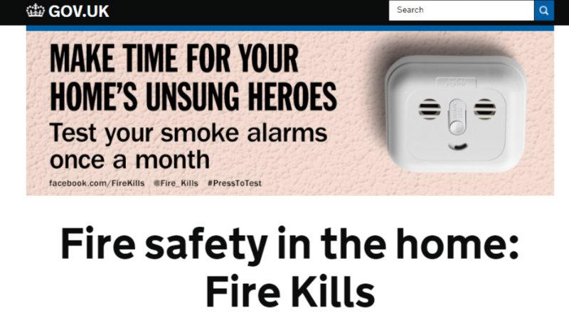 Fire Kills campaign GOV.UK