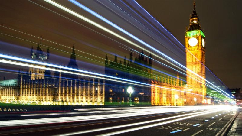 House of Parliament, lights