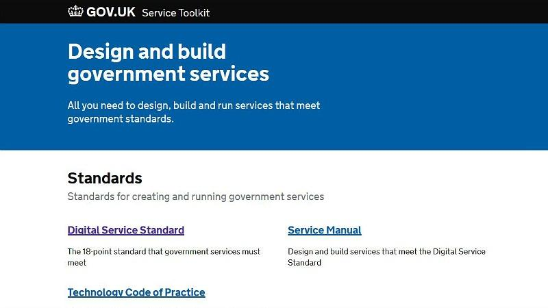 GOV.UK service toolkit homepage