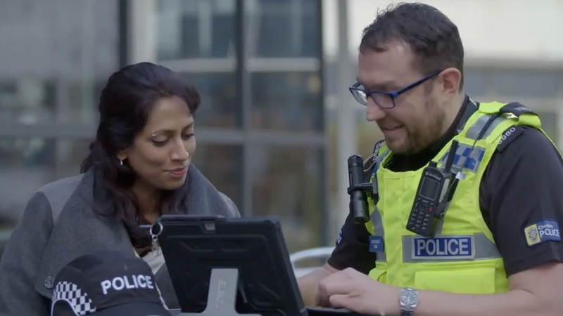 A picture of Cheshire Police and Surface are the ideal crime fighting duo