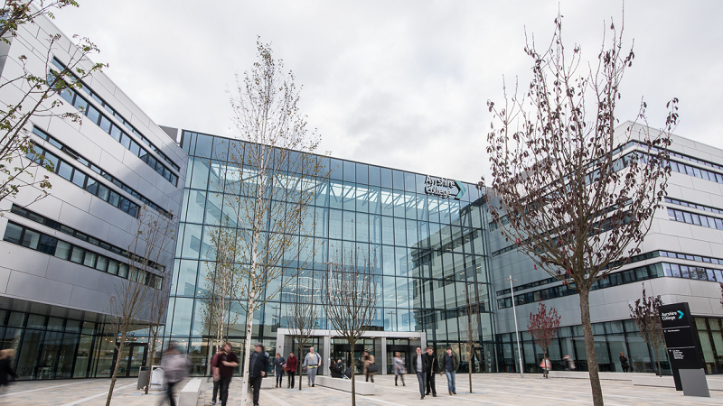 A picture of the exterior of Ayrshire College