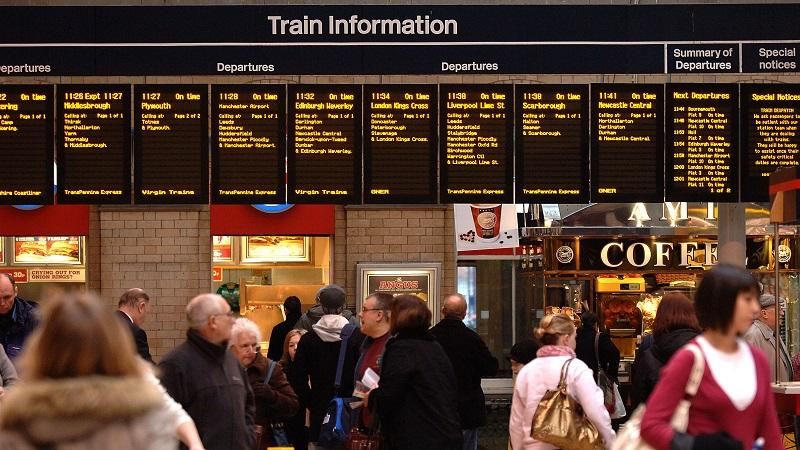 Image of York station departures board