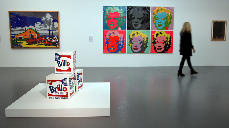 An image of an Andy Warhol exhibition at the Tate Liverpool gallery