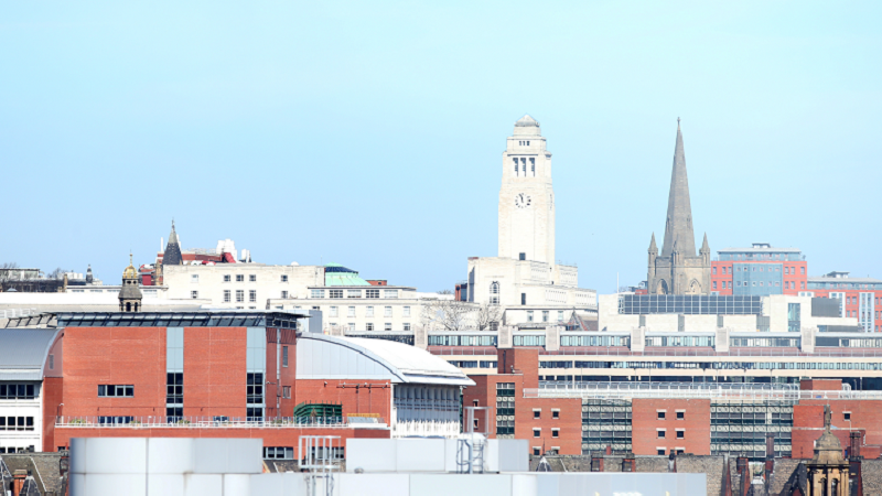General view of Leeds city centre
