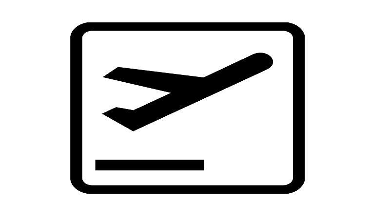 Image of a departures logo