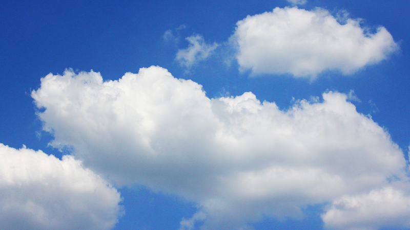 Image of white clouds on blue sky