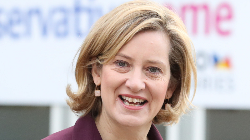 Image of Amber Rudd at the Conservative Party Conference in Manchester 2017