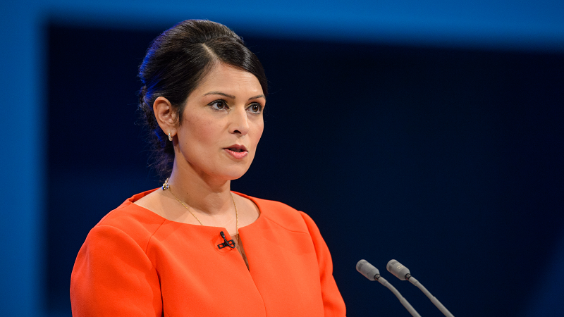 Secretary of State for International Development Priti Patel gives a speech during the Conservative Party Conference, at the Manchester Central Convention Complex in Manchester.