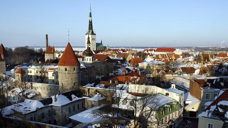 An image of the Tallinn skyline