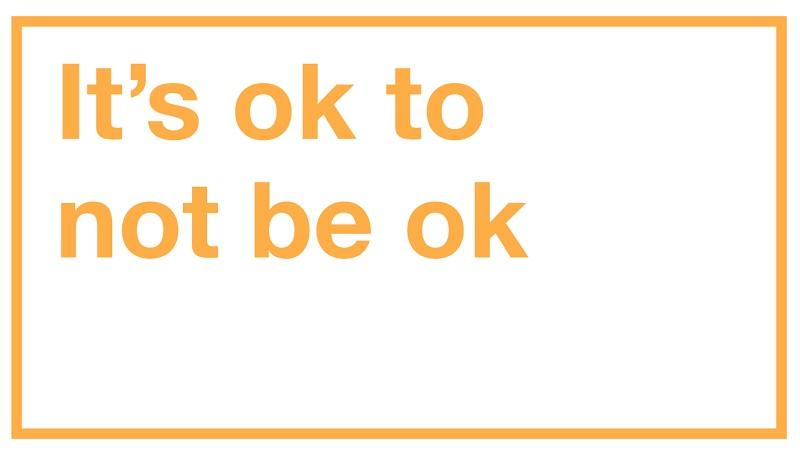 Image of GDS 'It's ok to not be ok' sticker