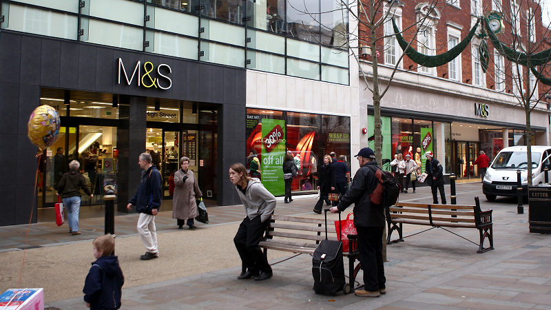 Image of Marks & Spencer in Worcester City Centre