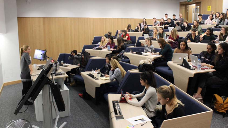 Image of a collaborative lecture theatre at the University of Leeds