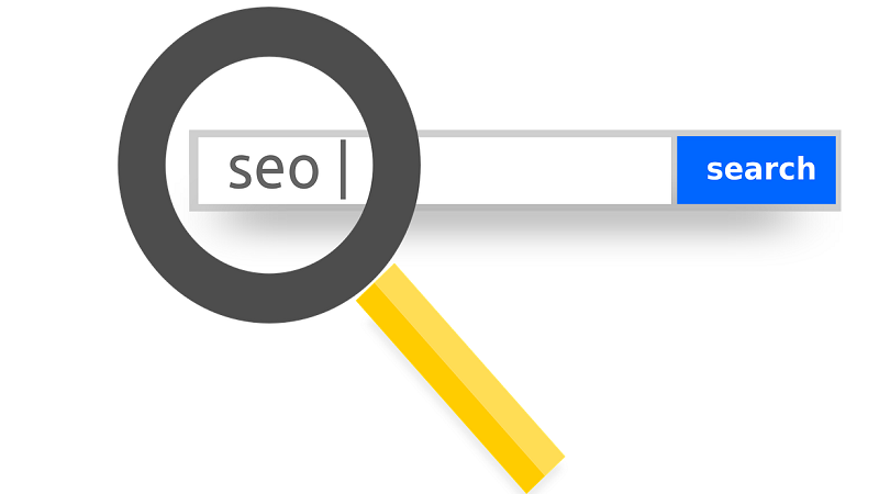 Image of SEO letters typed in search engine box