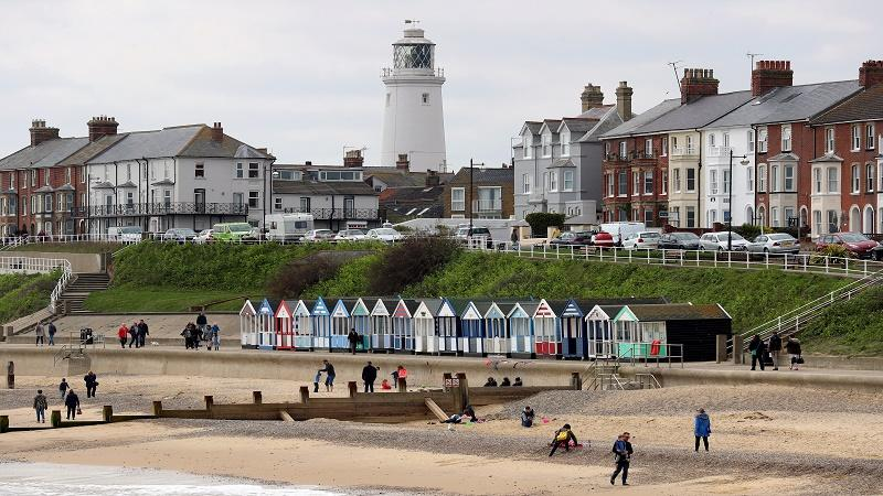 An image of Southwold beach in Suffolk