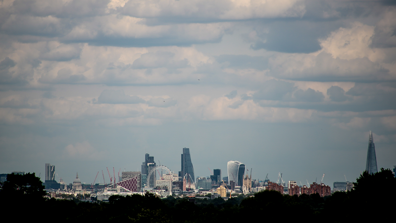 Image of the London skyline as viewed from Richmond Park