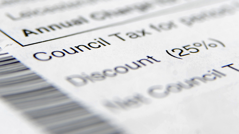 A close-up image of a section of a generic council tax bill