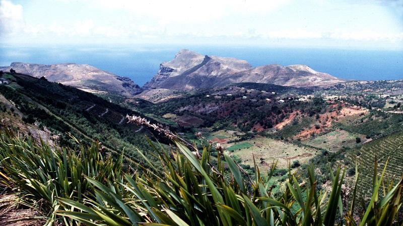 An image of the island of Saint Helena