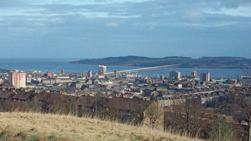 An image of the city of Dundee and river Tay seen from Balgay Hill