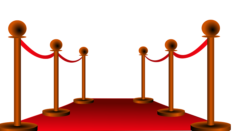 Illustration of a red carpet stretching ahead of you