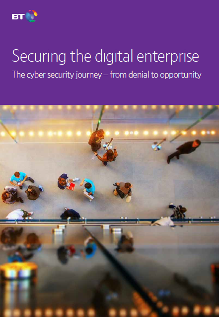 A picture of the BT Securing the digital enterprise whitepaper thumbnail