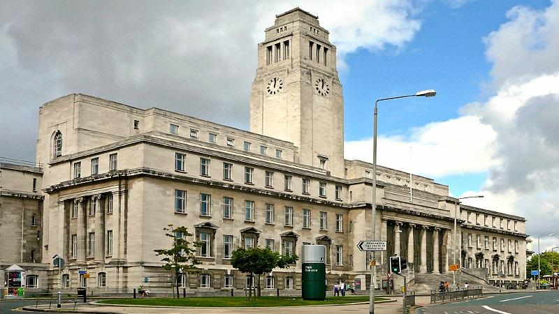 An exterior shot of the Leeds University Parkinson Building