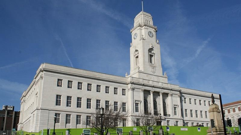 An image of the exterior of Barnsley Town Hall