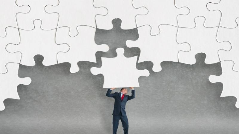 business challenge concept jigsaw puzzle