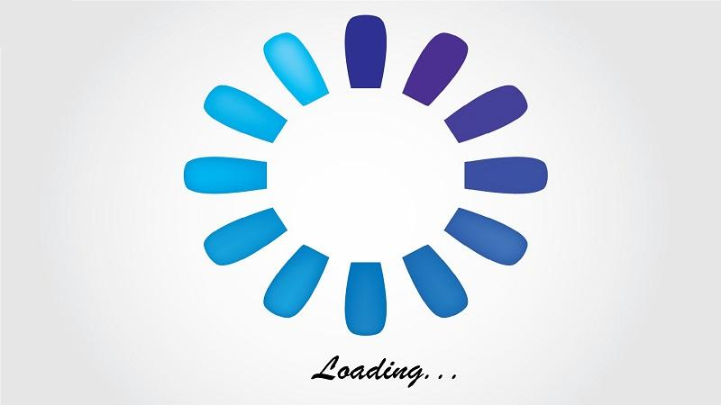 An image of internet loading message