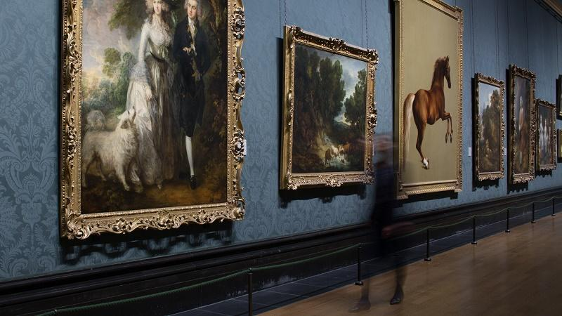 Image of paintings in the National Gallery